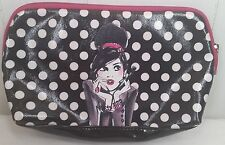 Sephora IZak black white make-up case girl polka dot bag