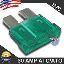 10 Pack 30 AMP ATC/ATO STANDARD Regular FUSE BLADE 30A CAR TRUCK BOAT MARINE RV