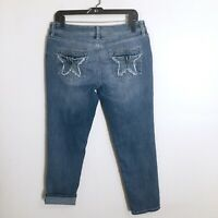 People's Liberation Skinny Crops Ankle Denim Jeans Womens Jrs 11/12 Distressed