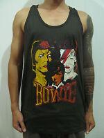 DAVID BOWIE Changing Image Rock T-Shirt Tank Top Vest Men Graphic Tee Dark Gray