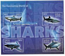 MODERN GEMS - Maldives - Sharks - Sheet Of 4 - MNH