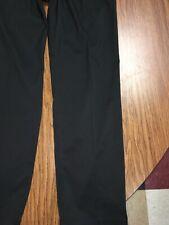 Nike Mens 32x32 Golf Flat Front Tech Flex Chino Pants Black Polyester 833194-010