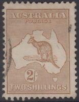 CV $350 ACSC36 SG29 SECOND WATERMARK Two Shillings lght brown kangaroo Australia