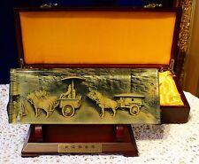 Bronze Chariot & Horses Of Qin's Mausoleum Image Paperweight & Decorative Piece