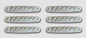 6 PCS 12V LED WHITE FRONT SIDE MARKER OUTLINE LIGHTS MERCEDES RENAULT IVECO FORD