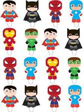 16 LARGE Marvel super hero stand up Birthday Party cupcake toppers birthday cake