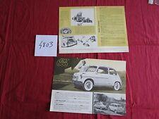 N°4803 /  prospectus FIAT 600  texte français   1960
