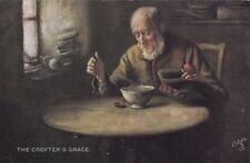 TUCK : SCOTTISH LIFE AND CHARACTER II -The crofter's grace-DOBSON -OILETTE 9272