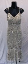 Aidan Mattox Women's Embellished Midi Dress AB3 Light Gold Size 2 NWT $295