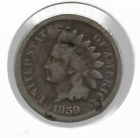 Rare Old Antique US 1859 PRE CIVIL WAR Indian Head Penny Collection Coin Lot:P36