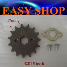 17mm 15T Teeth FRONT 428 CHAIN SPROCKET 250cc 150cc 125cc ATV QUAD DIRT BIKE PIT