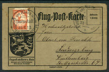 Germany - Flugpost am Rhein und Main 20 pfg 1912 on Cover   S501