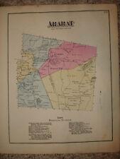ARARAT TOWNSHIP SUMMIT PENNSYLVANIA ANTIQUE HANDCLR MAP
