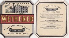 WETHERED'S - THOMAS WETHERED & SONS  BEERCOASTER FROM THE UK MA14597