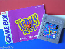 TETRIS BLAST + INSTRUCTION BOOKLET - GAME BOY - GB
