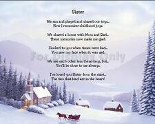 Sister Sentimental Matted Print Gift Encouragement Friendship Sibling