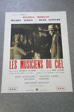 Affiche de cinéma : LES MUSICIENS DU CIEL de GEORGES LACOMBE (ressortie)