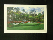 Larry Dyke Signed Thirteenth At Augusta Golf L/E Masters Tournament Lithograph