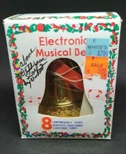 Vintage  CHRISTMAS ELECTRONIC MUSICAL BELL BATTERY WORKING, holidays