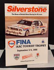 1988 SILVERSTONE RAC TOURIST TROPHY ETCC PROGRAMME FORD SIERRA RS500 BMW M3 EVO