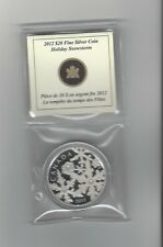 **2012**Canada, Holiday Snowstorm, Silver $20 Dollar Coin
