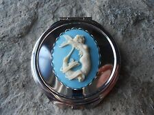 MERMAID CAMEO ROUND MAKE UP MIRROR, COMPACT MIRROR, UNIQUE, TROPICAL