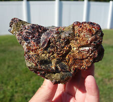 GARNET Crystal Natural Specimen Healing Display Stone Rich GEM Green & Red