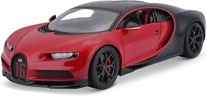 Maisto Bugatti Chiron Sport Diecast Car Special Edition Model 1:18 Scale Red Toy