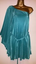 BNWOT TURQUOISE  ATMOSPHERE PRIMARK ONE SHOULDER PARTY TOP   TUNIC