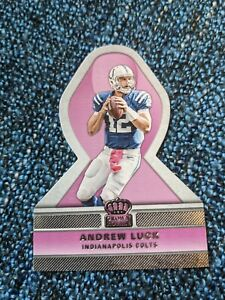 Andrew Luck 2015 Crown Royale Pink Insert Die Cut Indianapolis Colts