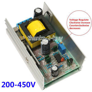 DC 12V 24V to DC 200-450V 70W High Voltage Converter Boost Step up Power Supply