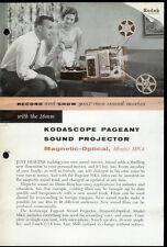 Rare Vintage Factory Kodak Kodascope Pageant MK4 16MM Projector Dealer Brochure