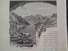Bellagio Lombardy Lake Como Northern Italy Antique Engraving 1878