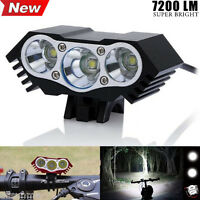 7200 Lm 3x CREE XM-L U2 LED Front Bicycle Lamp Bike Head Light +Battery+ Charger