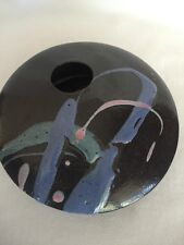 B10) Rare Abstract Art Pottery Vase made in Everett WA by Miles Pottery Co