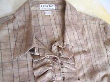 Damen Bluse mit Rüsche JOHN F. GEE Jeanswear braun Gr.38/ 40 TOP