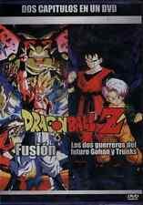 DRAGON BALL Z DVD 2 PELICULAS Español FUSION, 2 GUERREROS DEL FUTURO GOHAN TRUNK