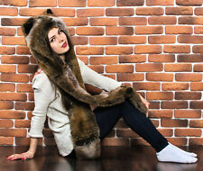 LYNX Original animal hat from the Ukraine (Faux wolf Hoodie Spirithood)