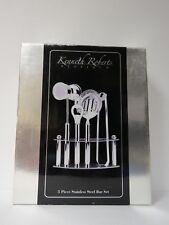 Kenneth Roberts Platinum 5 Piece Stainless Steel Bar Set Nib