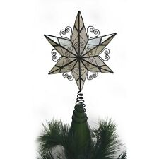 """Holiday Time 10.50"""" Capiz Brown 6-Point Tree Topper"""