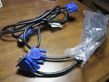 LOT OF 2 Monitor VGA Male To VGA Male 5-6' 15-pin Cable SVGA D-SUB US seller
