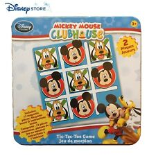 Disney Store Mickey Mouse Clubhouse Tic Tac Toe Game Magnetic Pieces Tin Case
