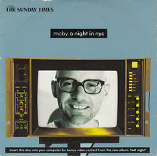 Moby CD A Night In NYC - Promo - England