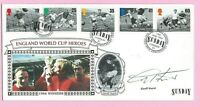 PILGRIM FDC First Day Cover 1996 - Signed GEOFF HURST - FOOTBALL LEGENDS - Shs