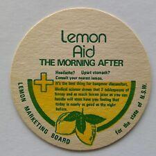 Lemon Aid The Morning After Lemon Marketing Board of NSW Coaster (B326-10)