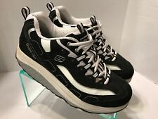 Sketchers Shape Ups Walking Toning Black White Shoes 11809 Women's Size 9