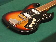 Vintage 1960s Univox Custom Model Guitar w/ Vibrato - Early Model - Japan MIJ
