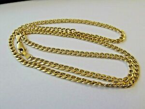 """9ct 9k Gold Long Curb Link Chain Necklace ~ 20"""" 4.2g Boxed Made In Italy"""