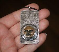 Vintage Tabra Moon Face Goddess Pendant Necklace!