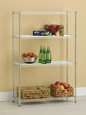 "4 Tier 14"" x 36"" x 54"" Wire Shelving Storage Rack-Silver Finish"